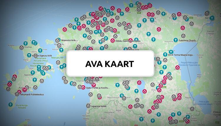 Eesti pulmapaigad interaktiivne kaart